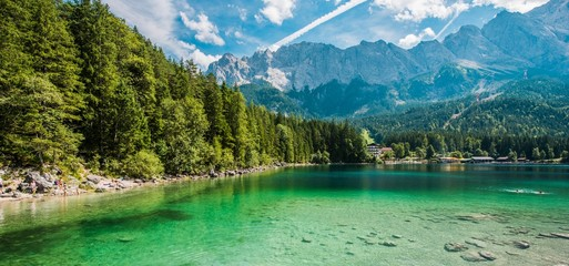 Naklejka Scenic Bavarian Lake Eibsee