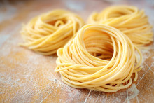 Raw Homemade Spaghetti Nest Wi...