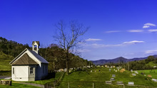 A Country Church And Cemetary In The Hills Of Eastern Tennessee.