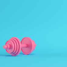 Abstract Pink Dumbbell On Brig...