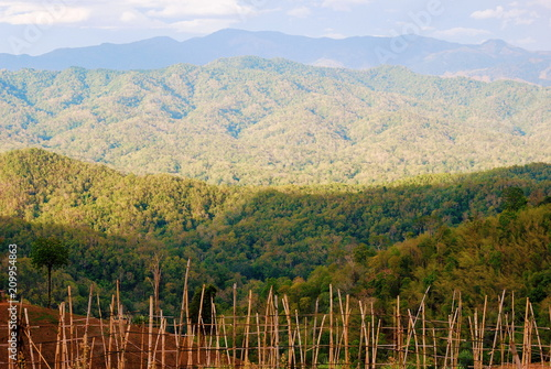 Staande foto Beige Mountain view, Landscape