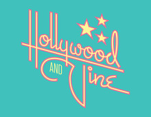 Hollywood And Vine Retro Vecto...