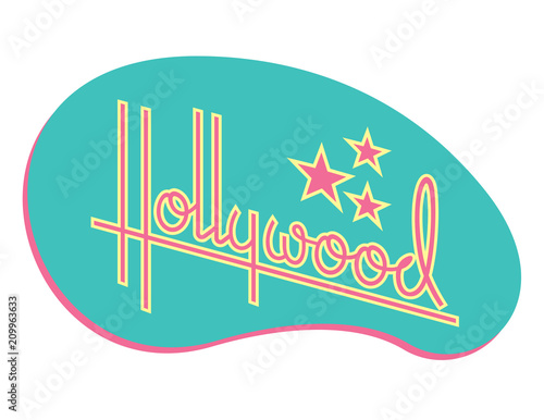 Fotografia Hollywood Retro Vector Design with Stars