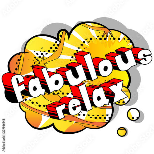 Keuken foto achterwand Cars Fabulous Relax - Comic book word on abstract background.