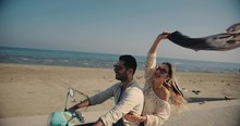 Young Tourists Couple Riding S...