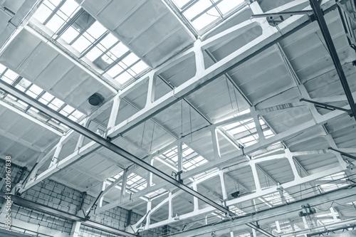 ceiling of industrial building inside bottom view Fototapeta