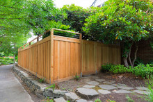 New Cedar Wood Fencing On Side...
