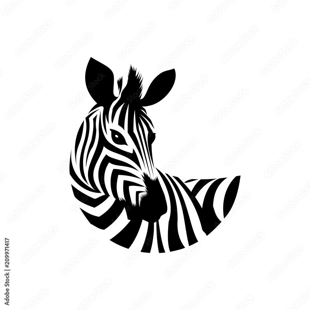Obraz zebra icon fototapeta, plakat