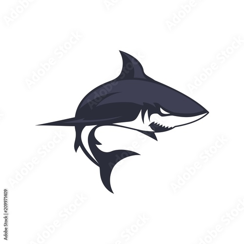 Fotografie, Obraz  shark icon vector template