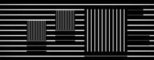 Optical Art Square Line Vector...