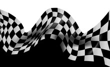 Race Flag Checkered Waving Flag Background
