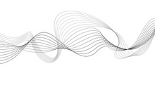 Curvy Abstract Line Wave Graph...