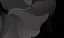 Black, Gray Polygon Background. Vector Imitation Of The 3D Illustration. Pattern With Triangles Of Different Scale.