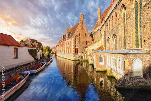 Photo sur Toile Bruges Saint John's hospital, Bruges, Brugge, Belgium.