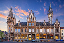 Old Post Palace, Front View, Ghent, Belgium.