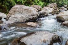 Rapids Of Rio Hornito River In Panama