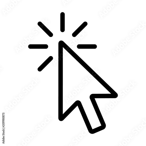 Mouse Pointer Arrow Clicked Or Cursor Click Line Art Icon For Apps