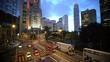 Traffic and people in Central, Hong Kong Island, Hong Kong, China