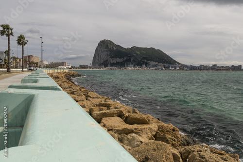 In de dag Mediterraans Europa landscape of the Rock of Gibraltar