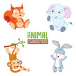 Vector Illustration Of Cartoon Animal