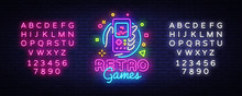 Retro Games Vector Logo. Retro...