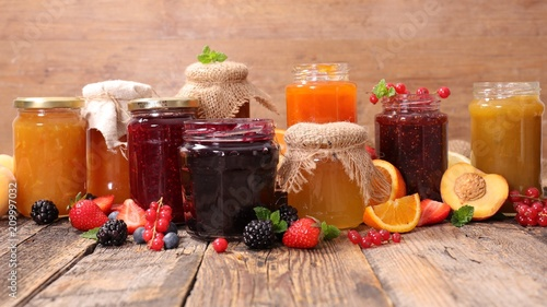 assorted jam and marmalade Canvas Print