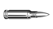 Vintage Monochrome Gun Bullet ...