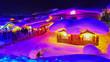 Leinwanddruck Bild - Snow village at night in Harbin, China