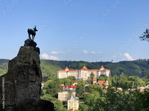 Canvas Print A view of Karlovy Vary from Deer Jump view point