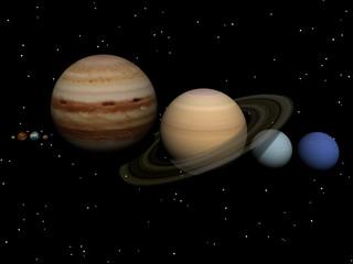 Weltraum mit Olaneten