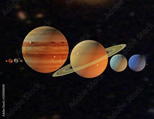 Naklejki kosmos  weltraum-mit-planeten