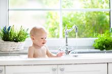 Little Baby Taking Bath