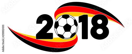 Fussball 2018 Wm Banner Mit Deutschland Flagge Buy This