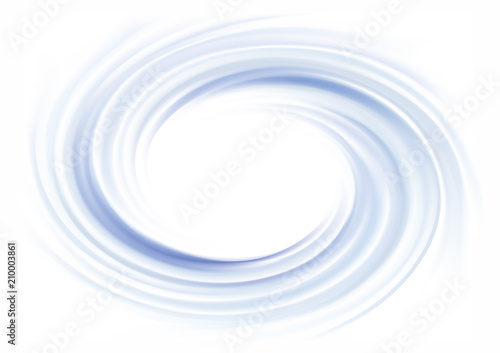 Vector background of cobalt swirling water texture Fototapeta