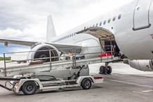 Loading Of Luggage To Aircraft...