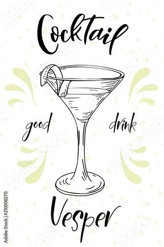 kieliszek-i-drink-vesper-ilustracja-z-jasnozielonymi-akcentami