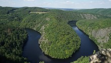Horseshoe Bend In The Vltava A...