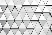 Geometric Silver Background Wi...