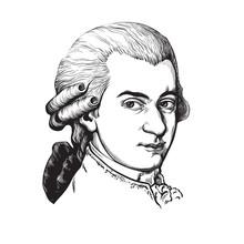 Wolfgang Amadeus Mozart. Vecto...