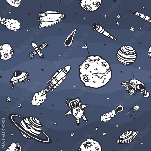 recznie-rysowane-astronomia-doodle-wzor