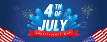 4th Of July Banner Vector Illu...