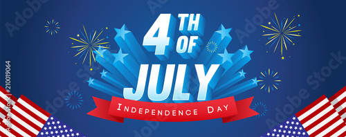 Photographie 4th of July Banner Vector illustration