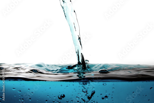 Papiers peints Eau Water droplet as background / Water is a transparent, tasteless, odorless, and nearly colorless chemical substance that is the main constituent of Earth's streams, lakes, and oceans
