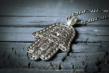 Old Hamsa Amulet Or Hand Of Fa...