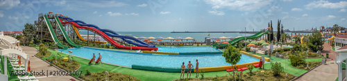 Photo  SOCHI, RUSSIA - JUNE 12, 2017: Water park on the waterfront.