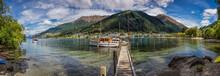 Queenstown New Zealand, December 24th 2014 : Panoramic View Of Teh Queenstown Harbour
