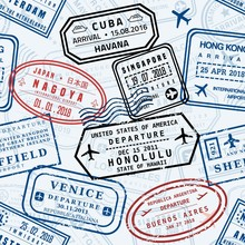 Travel Stamp Vector