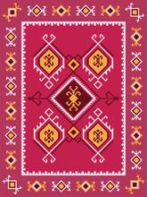Colorful Tribal Kilim Rug With...