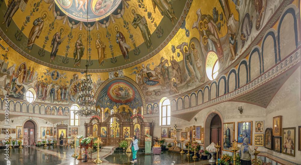 Fototapety, obrazy: SOCHI, RUSSIA - JUNE 3, 2017: Interior of the Temple of Panteleimon.