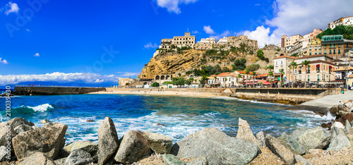 Italian summer holidays -Pizzo Calabro - beautiful coastal town in Calabria Italy